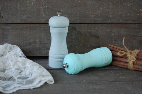 Mint & grey grinder set