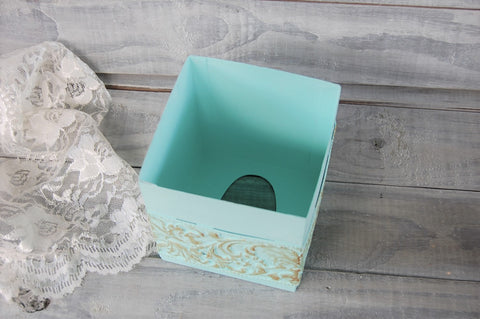 Mint & gold tissue cover