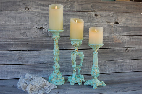 Mint candle holders
