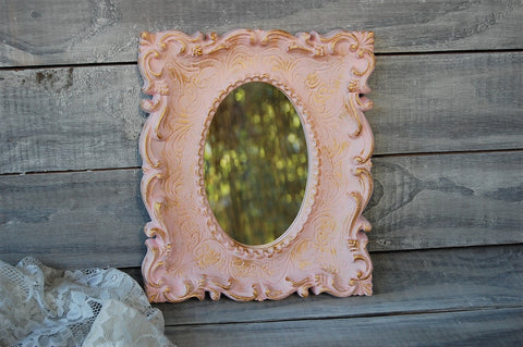 Small pink mirror
