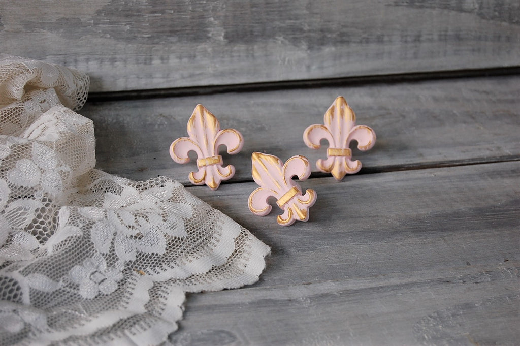 Pink French drawer knobs