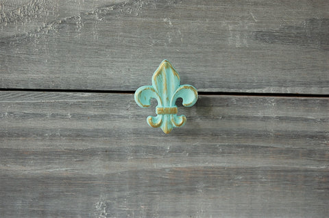 Mint French drawer knobs