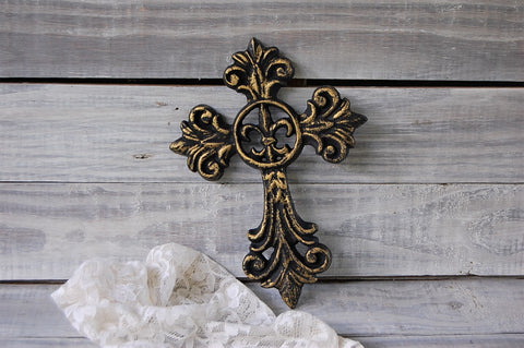 French gothic cross