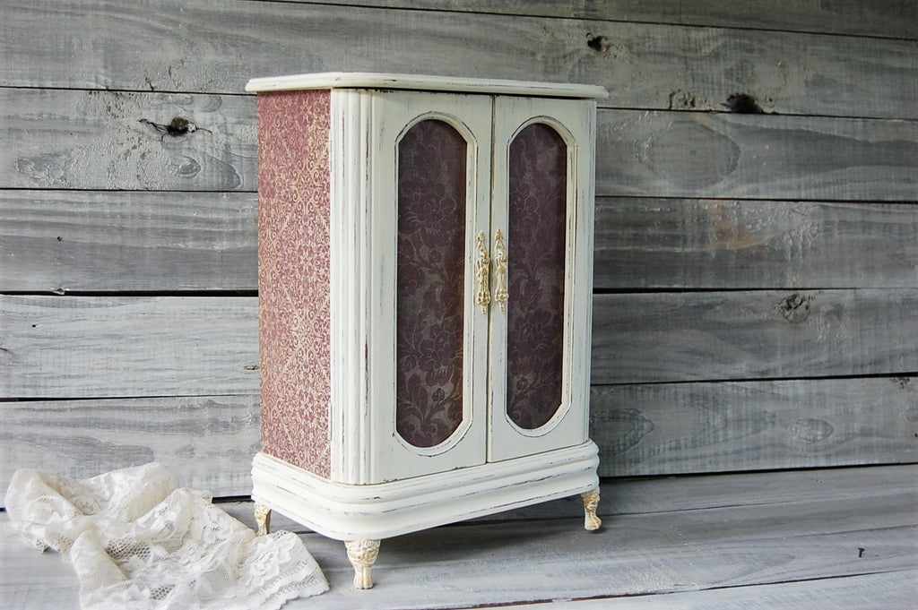 French damask armoire