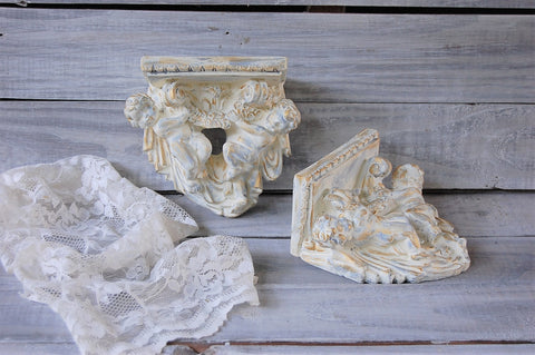 Ivory cherub shelves