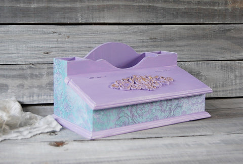 Decoupage desk organizer