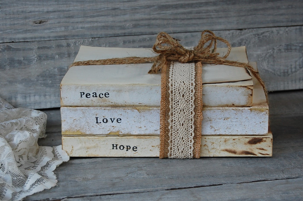 Boho book decor