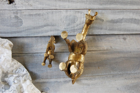 Brass giraffe decor