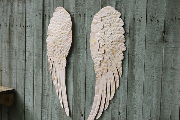 Pink Angel Wings Wall Decor : Pink angel wings wall decor the vintage artistry