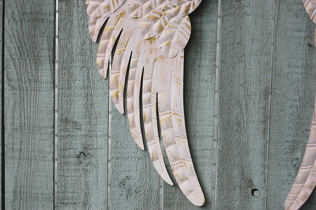 Pink angel wings wall decor – The Vintage Artistry