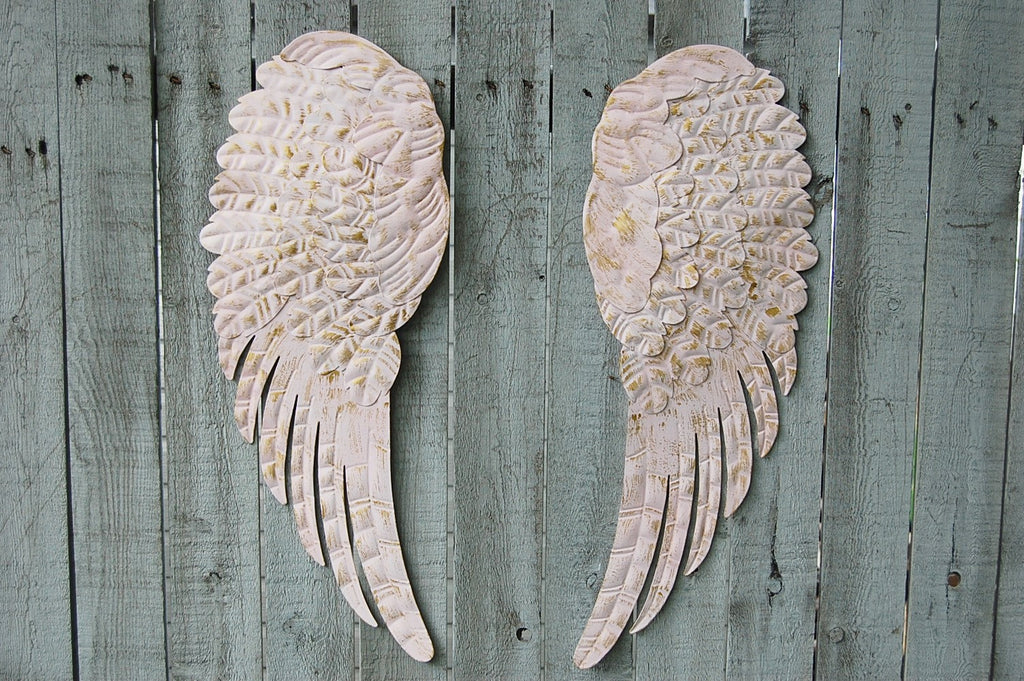 Pink angel wings wall decor - The Vintage Artistry