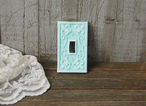 Mint green wall plate