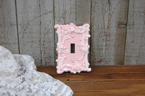 Pink single switch cover