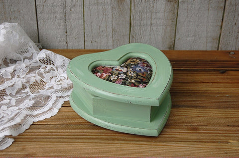 Heart shaped tapestry jewelry box