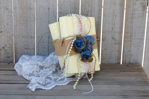 Upcycled Vintage Book Decor