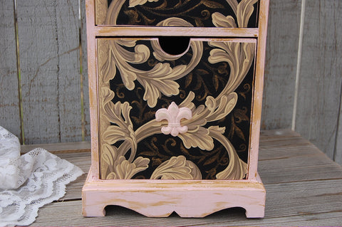French shabby chic cabinet - The Vintage Artistry