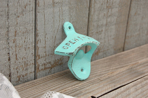 Mint green bottle opener - The Vintage Artistry