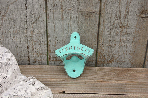 Mint green bottle opener