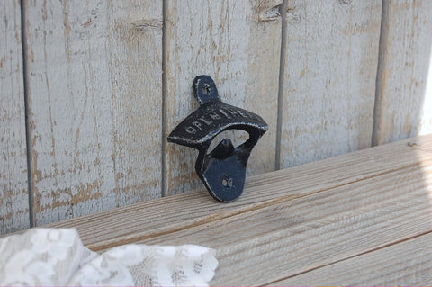 Black retro bottle opener