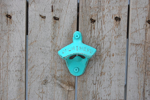 Aqua wall mount bottle opener