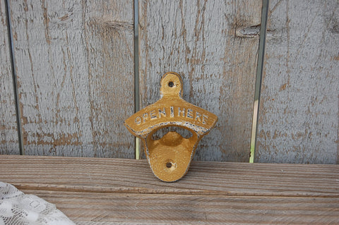 Gold wall mounted bottle opener - The Vintage Artistry