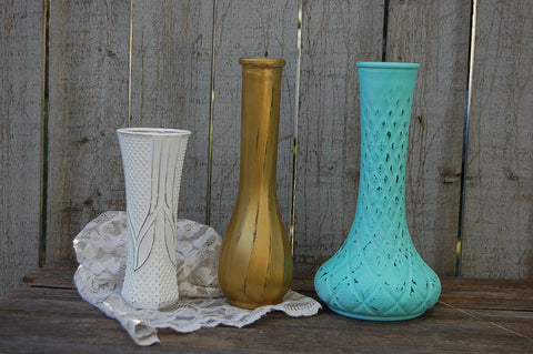 Upcycled vase set