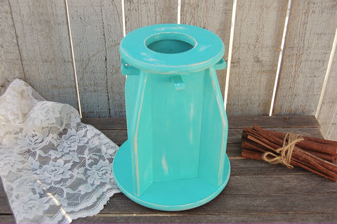 Aqua lazy susan utensil holder - The Vintage Artistry