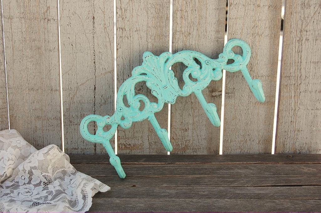 Mint green wall hook - The Vintage Artistry