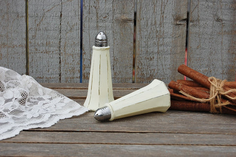 Ivory tower salt and pepper shakers