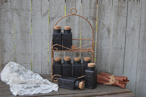 Bronze & black spice rack