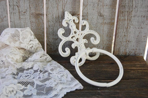 Ivory towel ring