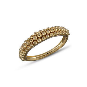 Gold Ball Diamond Studded Bracelet