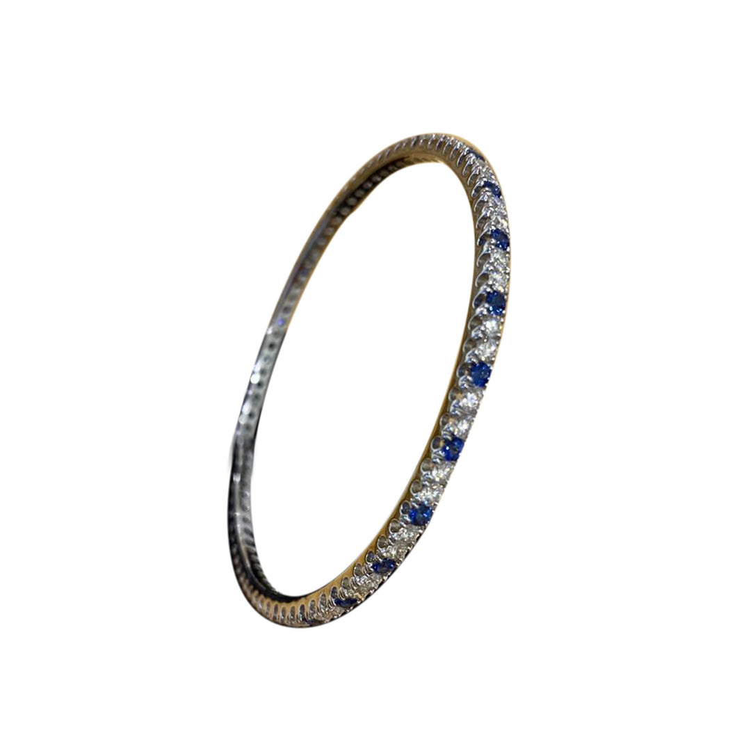 Diamond & Blue Sapphire Studded Bangle