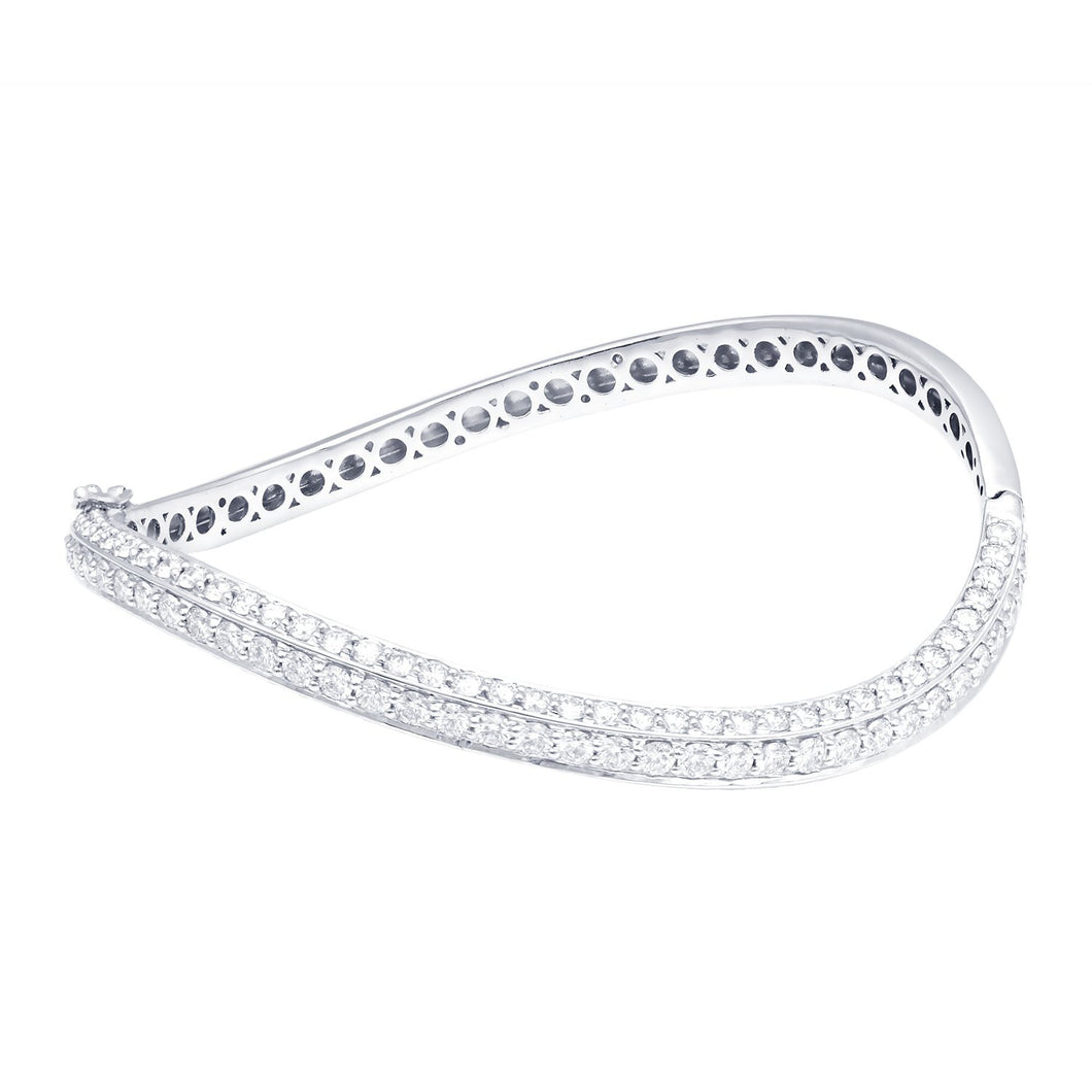 Sterling Diamond Studded Bangle
