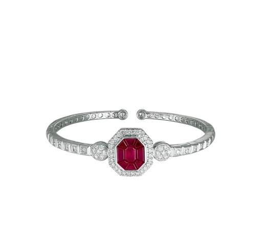 Grace Ruby Burma & Diamond Studded Bracelet