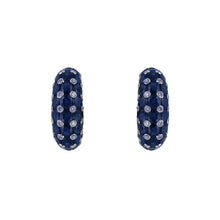 Brilliant Round Diamond & Blue Kyanite Studded Huggies