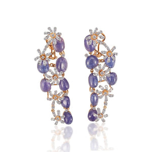 Diamond & Tanzanite Studded Dangler