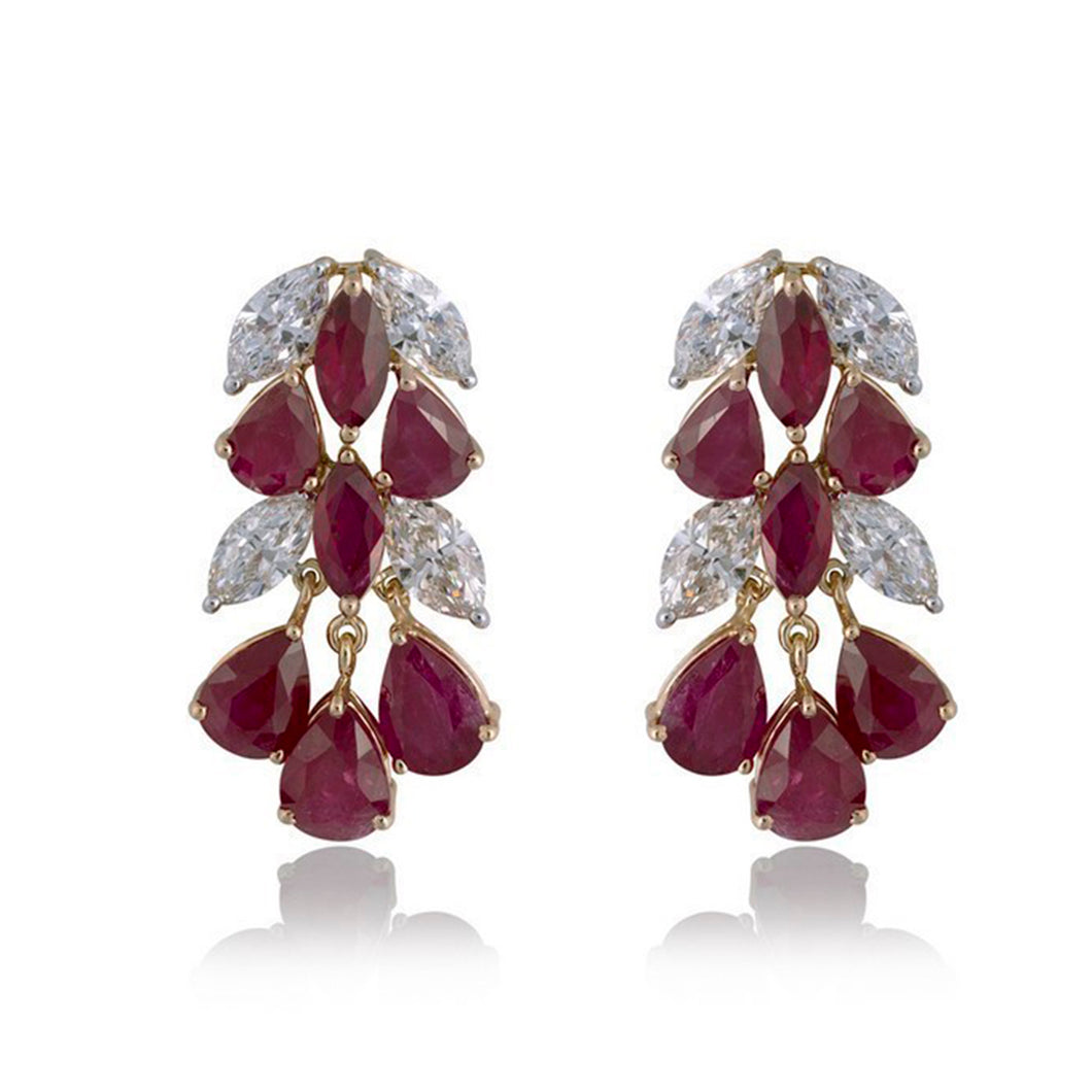 Revere Diamond & Ruby Earrings
