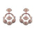 Pink Lotus Diamond Earrings