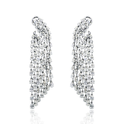 Diamond Studded waterfall earrings