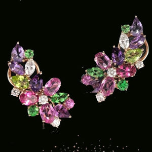 Florence Multi Sapphire Earring