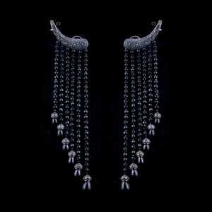 Black Dazzling Diamond Danglers