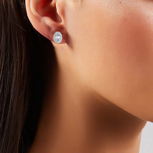 Oval Diamond Studs