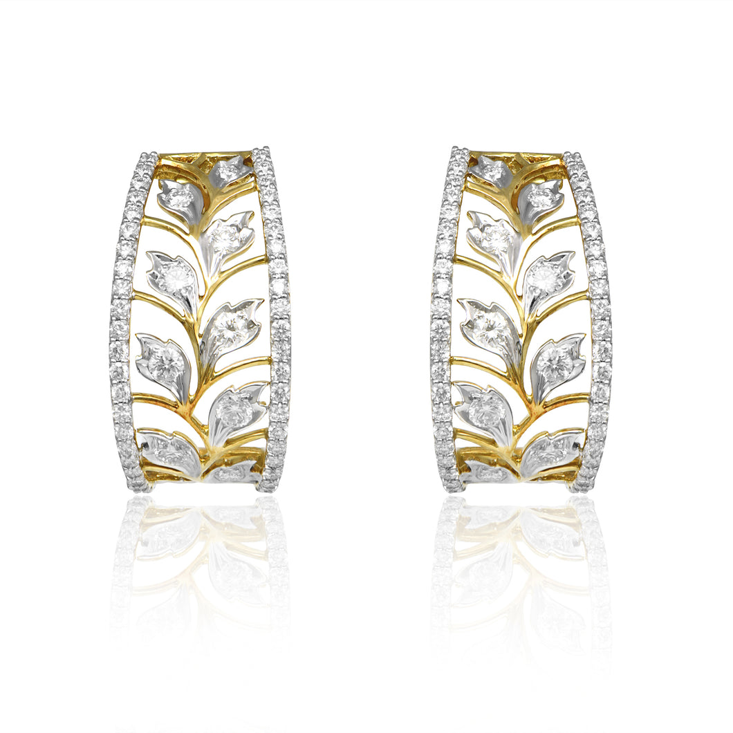Sterling Diamond Studs