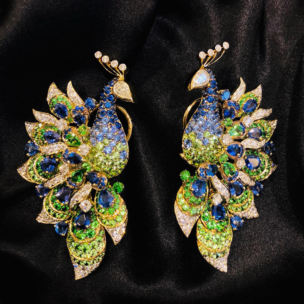 Florence Peacock Earring