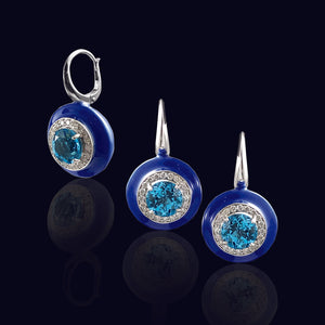 Blue Ceramic Earring