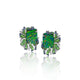 Gemstones & Diamond Stud Earrings