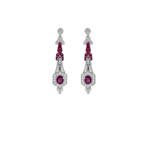 Diamond & Ruby Studded Earring