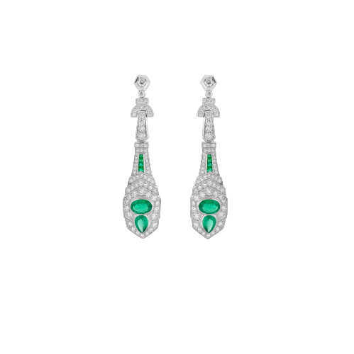 Diamond & Emerald Studded Earring