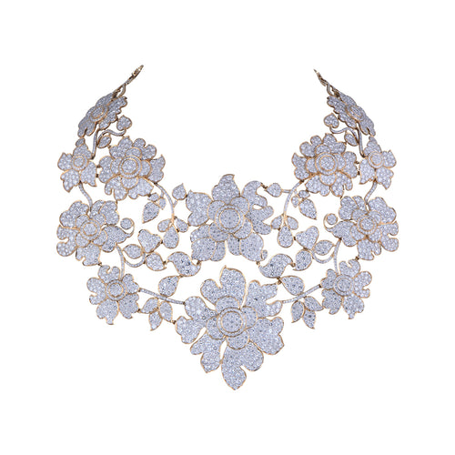 Floral Diamond Choker
